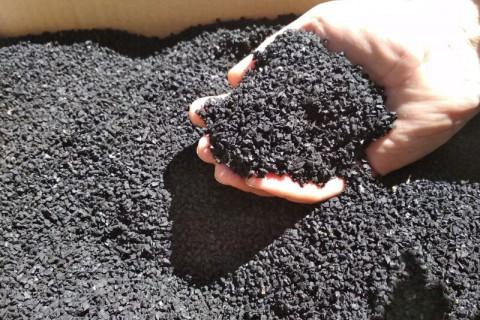 Чёрная резиновая крошка