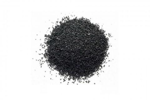Чёрная резиновая крошка, фракция 0,1–1 мм